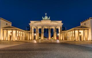 Berlins bekanntes Wahrzeichen, das Brandenburger Tor