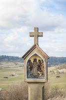 Wegkreuz auf dem Weg zur Stielbergkapelle in Oberrot-Hausen