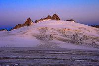 Morgensonne am Plateau du Trient, Wallis, Schweiz