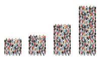 Menschen Gruppe Leute Erfolg Wirtschaft Wachstum Diagramm Business