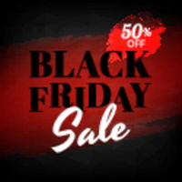 Black Friday Banner With Ripped Paper