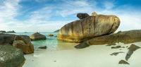 Panorama of Similan islands at sunset