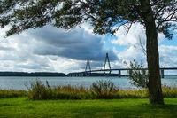 Blick auf eine Brücke in Dänemark
