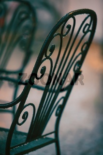 Picturesque nook - detail of an old chair