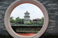 Circle arch door, Chinese jiangnan garden