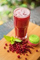 Summer cranberries smoothie