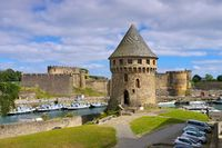Brest Burg in der Bretagne, Frankreich - Brest castle and Tanguy tower in Brittany, France