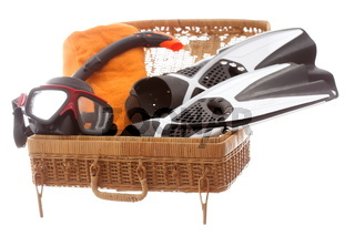 Tauchausrüstung im Urlaubskoffer