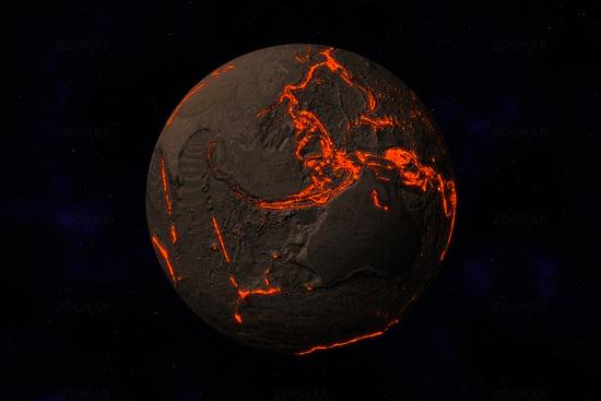 Il y a des milliards d'années, la Terre était bien formée d'un océan de magma