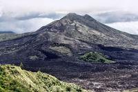 Recently awakened volcano Gunung-Batur