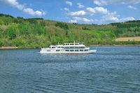 Ausflugsschiff auf dem Biggesee im Sauerland,NRW,Deutschland