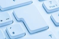 Leere Taste Textfreiraum Copyspace Nachricht Kommunikation Internet blau Computer Tastatur