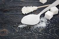 Sugar white different on black board