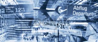 Internationale Flughäfen und Flugreisen