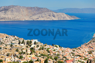 The town of Symi island in Greece