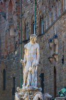 Fountain of Neptune statue in Florence