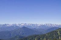 Ausblick aufs Karwendelgebirge
