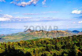 Aerial view to Mago National Park, Omo valley, Etiopia