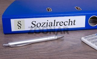 Sozialrecht Ordner im Büro
