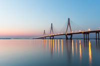 three pylons of cable-stayed bridge