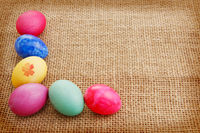 Colorful easter eggs.