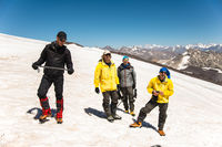 Learning to slip properly on a slope or glacier with an ice ax