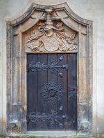 Seiteneingang in der Lutherkirche in Wittenberg