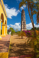 Old slavery tower in Manaca Iznaga near Trinidad, Cuba