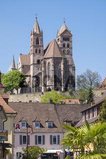Breisach, Fußgängerzone mit dem Breisacher Münster