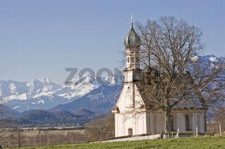 Ramsacher Kapelle bei Murnau in Oberbayern