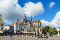 Blick über den Neuen Markt in Rostock