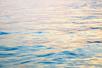 Water surface at sundown