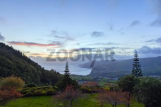 HDR Aufnahme - Sonnenuntergang auf den Azoren, Portugal