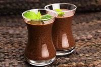 Chocolate chia seeds pudding