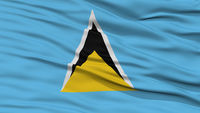 Closeup Saint Lucia Flag