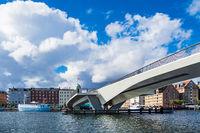 Brücke und Gebäude in der Stadt Kopenhagen, Dänemark