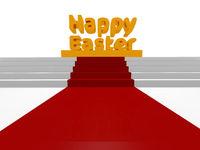 Happy Easter concept, 3d render