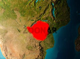 Orbit view of Zimbabwe