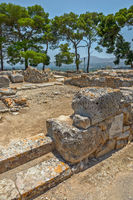 Phaistos palace archaeological site on Crete