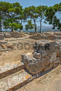 Phaistos palace archaeological site on Crete