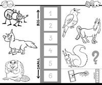find biggest animal color book activity