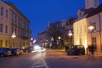Christmas street  and light
