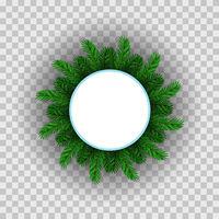 Green Fir Circle Frame