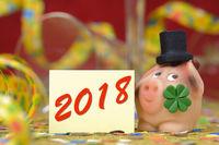 Glücksschwein aus Marzipan zum Jahreswechsel 2018