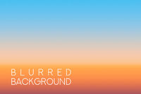 horizontal wide sunset blurred background
