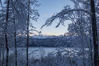 Walchensee-See in Bayern im winter