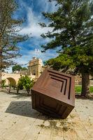 Art sculplture in Mdina,Malta