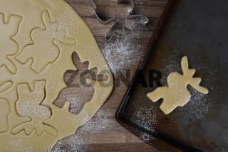 Making Moose Shaped Sugar Cookies