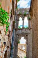 Old ruins with venetian windows