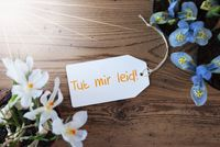 Sunny Flowers, Label, Tut Mir Leid Means Sorry